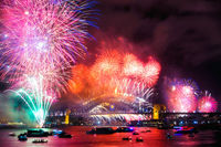 FW101 Fireworks, Sydney Harbour, New Years Eve